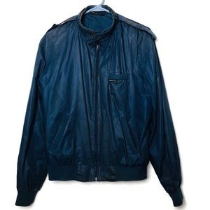 VTG Members Only Blue Navy racer jacket lined 42